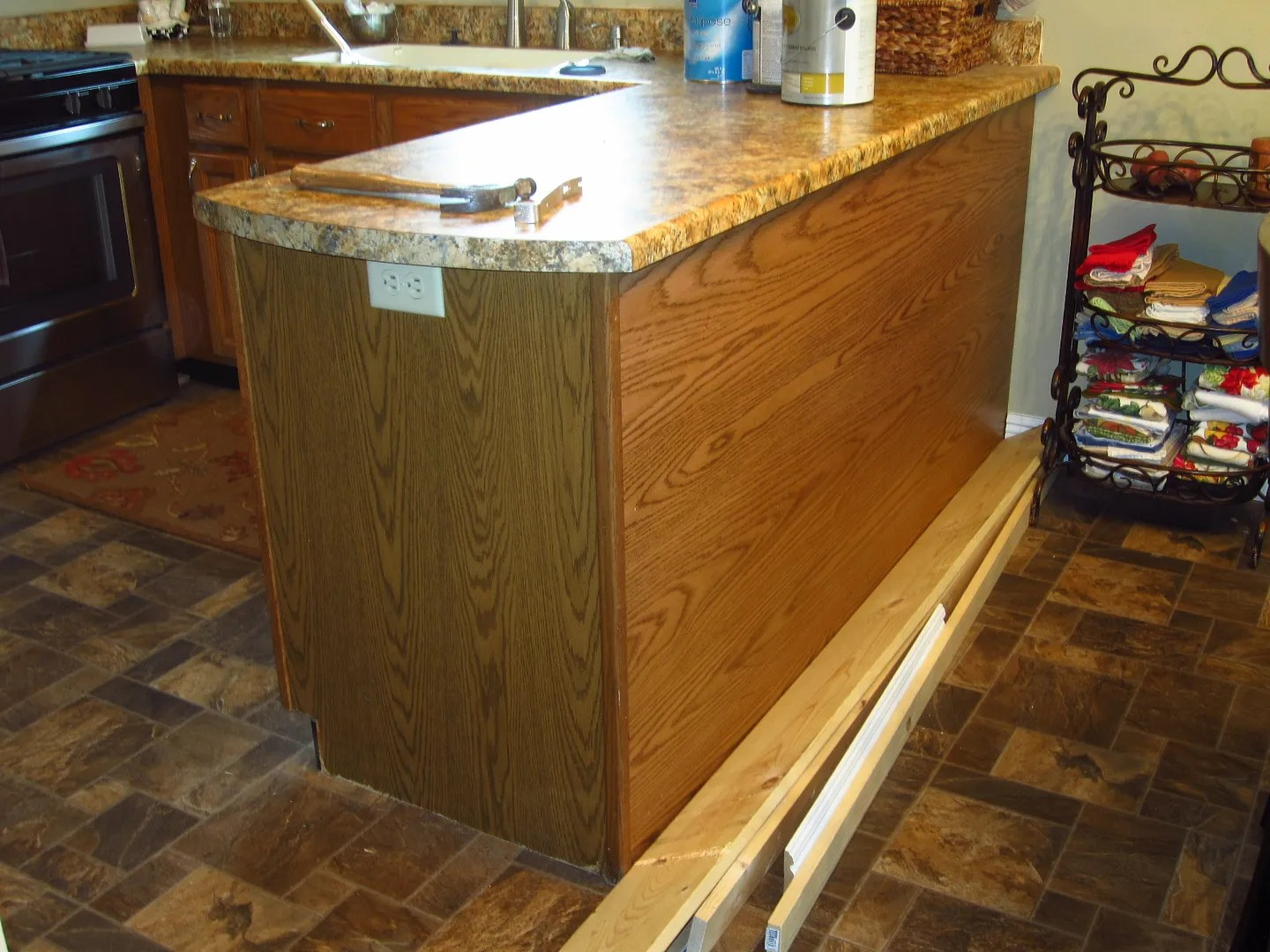Add Character to a Kitchen Island/Peninsula-HomeStagingBloomingtonIL