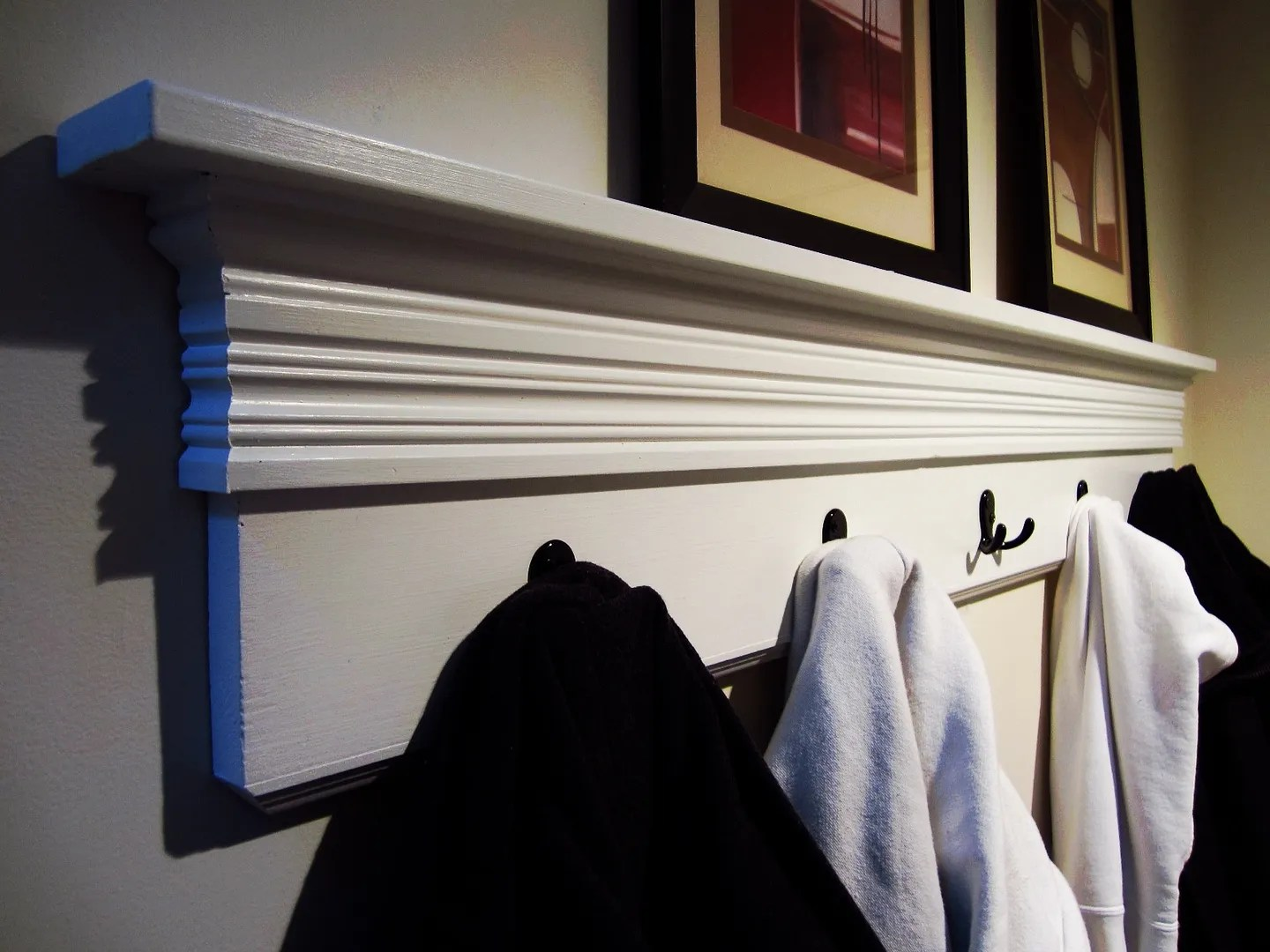 Easy DIY Coat Rack / HomeStagingBloomingtionIL