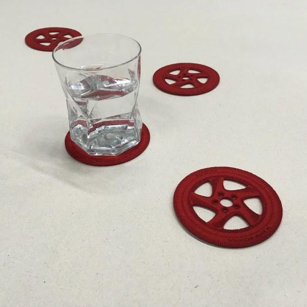Fs Porsche Wheels Themed Drink Coasters - Pelican Parts