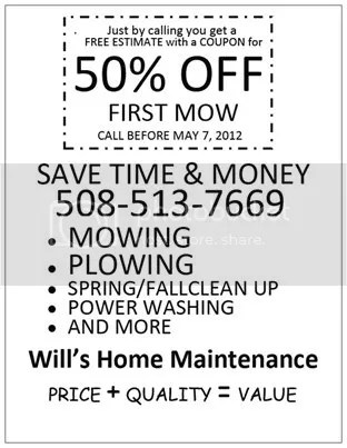 Will's Home Maintenance lawn care, http:/willslawns.com Lawn care service in Brockton Mass 508-513-7669 Easton, Abington, Stoughton, Whitman, Bridgewater, Hull & Brockton Mass. 02301