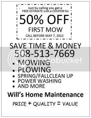 Will's Home Maintenance lawn care, http:/willslawns.com Lawn care service in Brockton Mass 508-513-7669 Easton, Abington, Stoughton, Whitman, Bridgewater, Hull & Brockton Mass. 02301