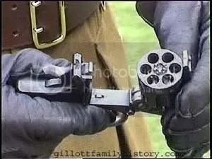 barrel of WW2 revolver
