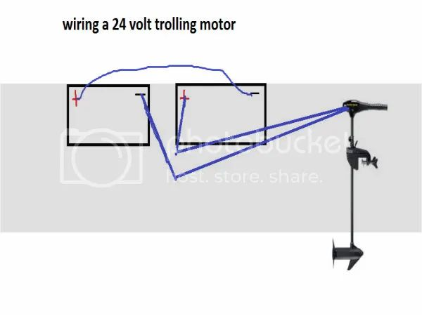 how do i wire a 24 volt trolling motor