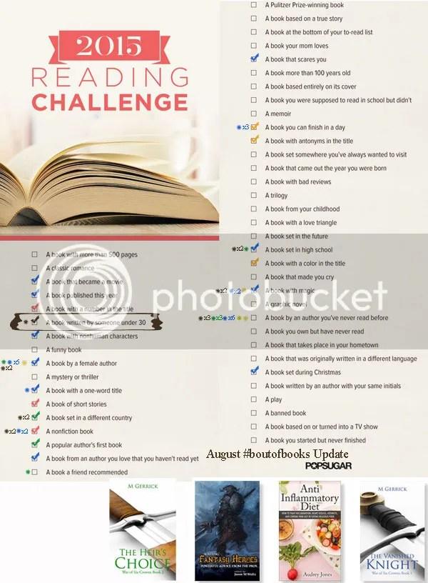 Popsugar Reading Challenge Update @JLenniDorner