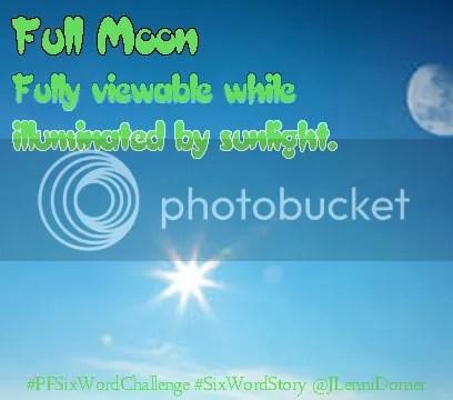 Full Moon #PFSixWordChallenge #SixWordStory @JLenniDorner