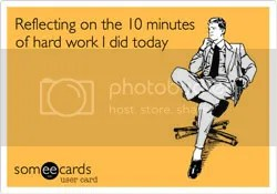 Reflection meme on the blog of @JLenniDorner says Reflecting on the 10 minutes of hard work I did today.