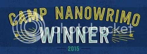 Camp NaNoWriMo 2015 winner @JLenniDorner
