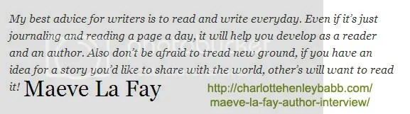Maeve la fay #writetip on the blog of charlotte henley babb