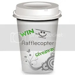 Rafflecopter Giveaway link in coffee cup image from @JLenniDorner