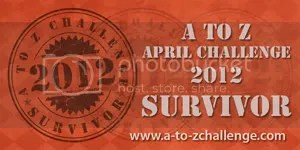#ATOZCHALLENGE 2012 Survivor badge