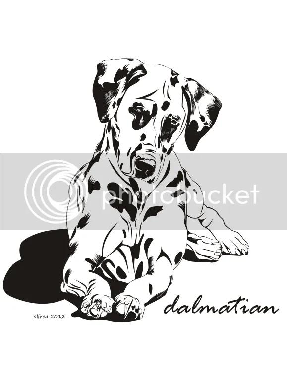 Free Download Vector Line Art Corel Draw : Anjing