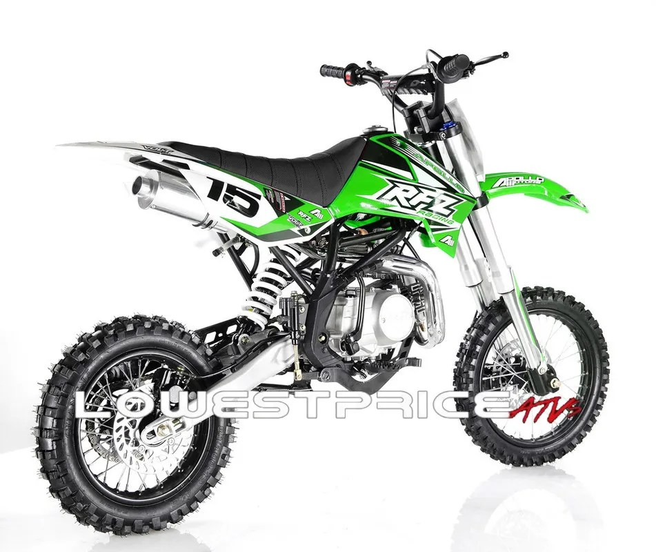 APOLLO DB-X15 125cc Manual Clutch Dirt Bike, 4 Stroke