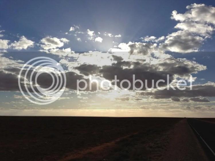 Sunset after Glendambo