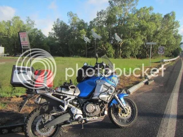 Motorcycle in Gulargambone