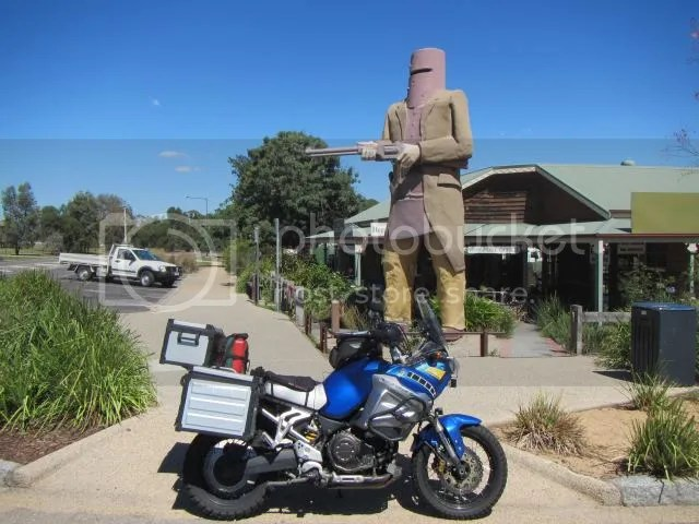 Motorcycle at Big Ned Kelly Glenrowan VIC