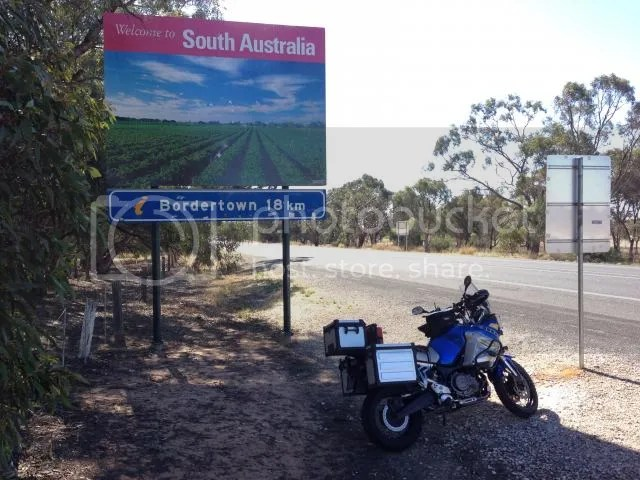 Super Tenere Motorcycle at VIC SA Border