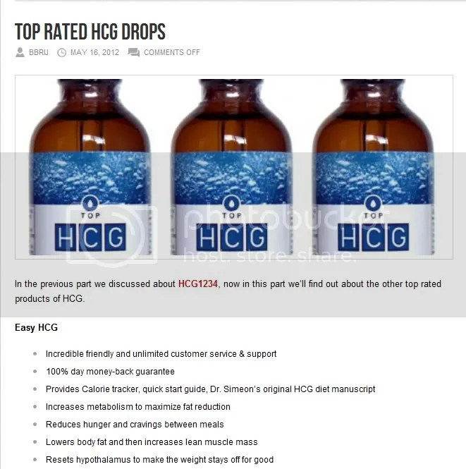 weight loss with hcg drops reviews