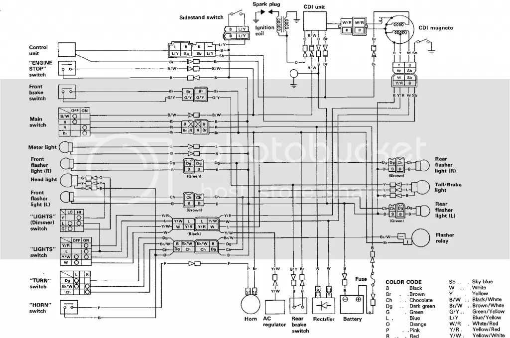 yamaha xt 350 wiring diagram