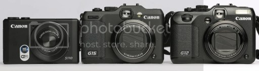 Canon PowerShot G15 vs G12 vs S110 Comparison