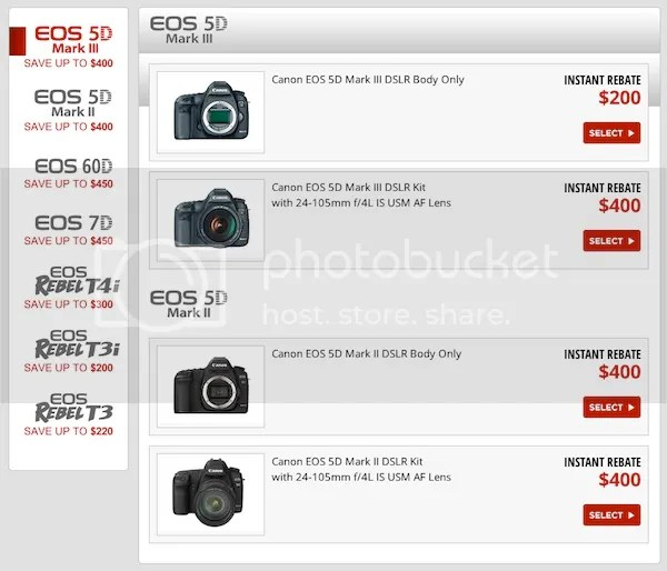 Big Savings On Selected Canon DSLR Bundles