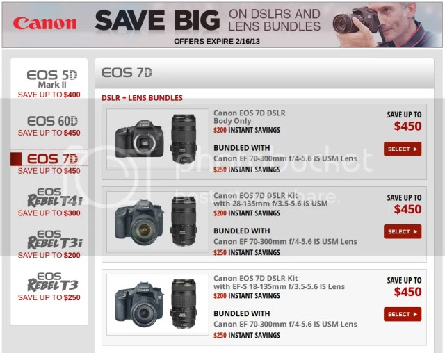 Some Canon Rebates Extended