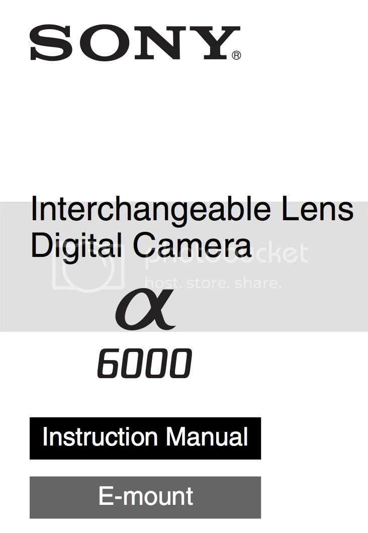 Full A6000 manual available for download