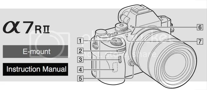 Download the full new Sony A7rII 104 pages long(!) manual
