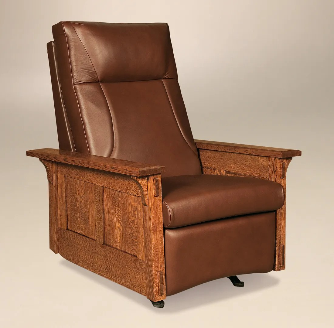 Mission Style Recliner Chair Amish Mission Arts And Crafts Recliner Rocker Mccoy Solid