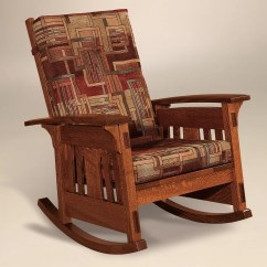 Wood Rocking Chair Styles Saddle Or Stool Amish Mission Arts Crafts Mccoy Rocker