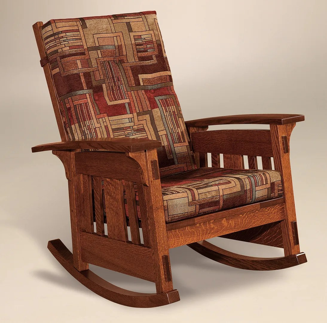 Amish Rocking Chair Details About Amish Arts And Crafts Rocking Chair Mission Mccoy Rocker Wood Upholstered