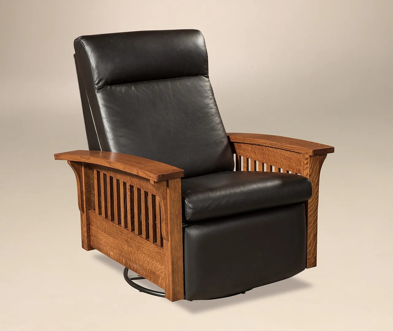 Swivel Recliner Chairs Details About Amish Mission Hoosier Glider Swivel Recliner Chair Solid Wood Leather