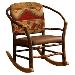 Rustic Rocking Chair For Shower The Elderly Amish Hickory Log Hoop Rocker Cabin Lodge