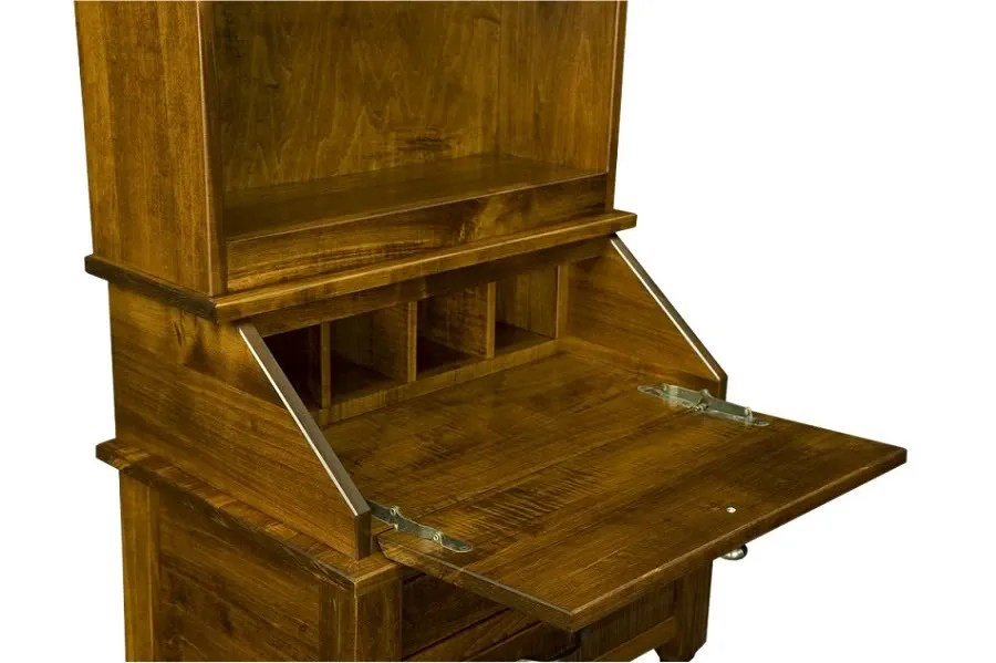 Amish Solid Wood Oak Secretary Writing Desk Bookcase