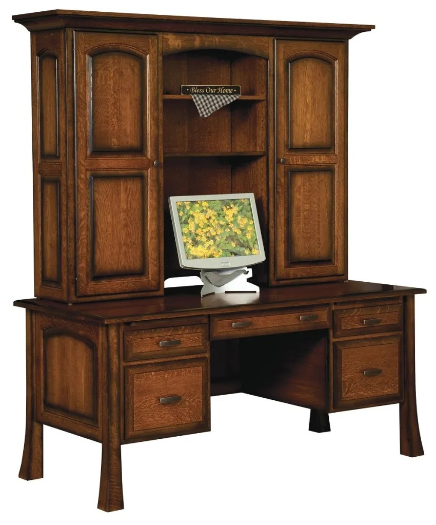 Amish Traditional Writing Computer Desk Hutch Solid Wood