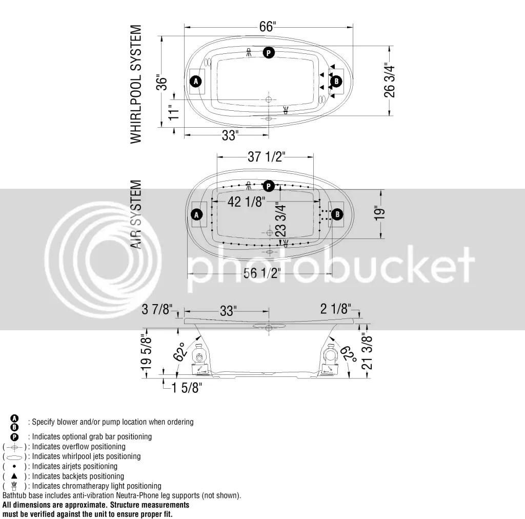 Maax Ambrosia 66 X 36 Oval Acrylic Drop In Bathtub
