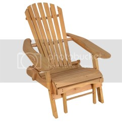 Outdoor Folding Chair With Footrest Vancouver Beach Adirondack Spruce Solid Wood