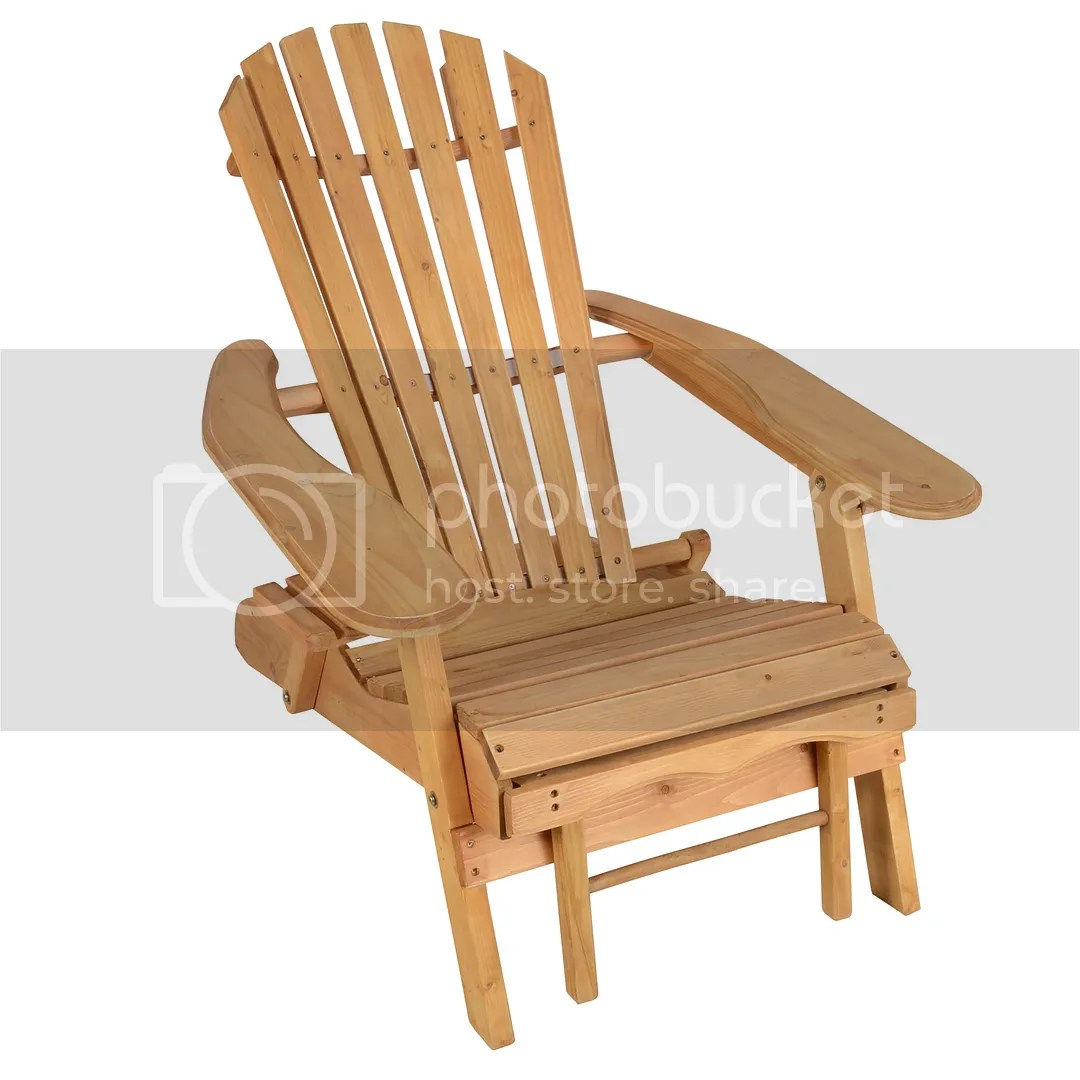 Folding Wood Beach Chair Outdoor Beach Folding Collapsible Adirondack Chair Spruce