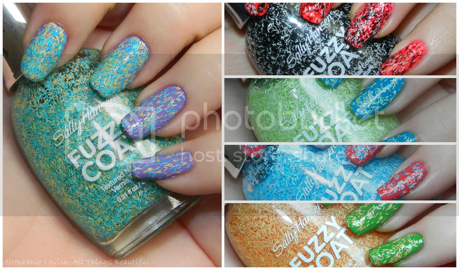 Sally Hansen Fuzzy Coat Textured Nail Polish Swatches & Review
