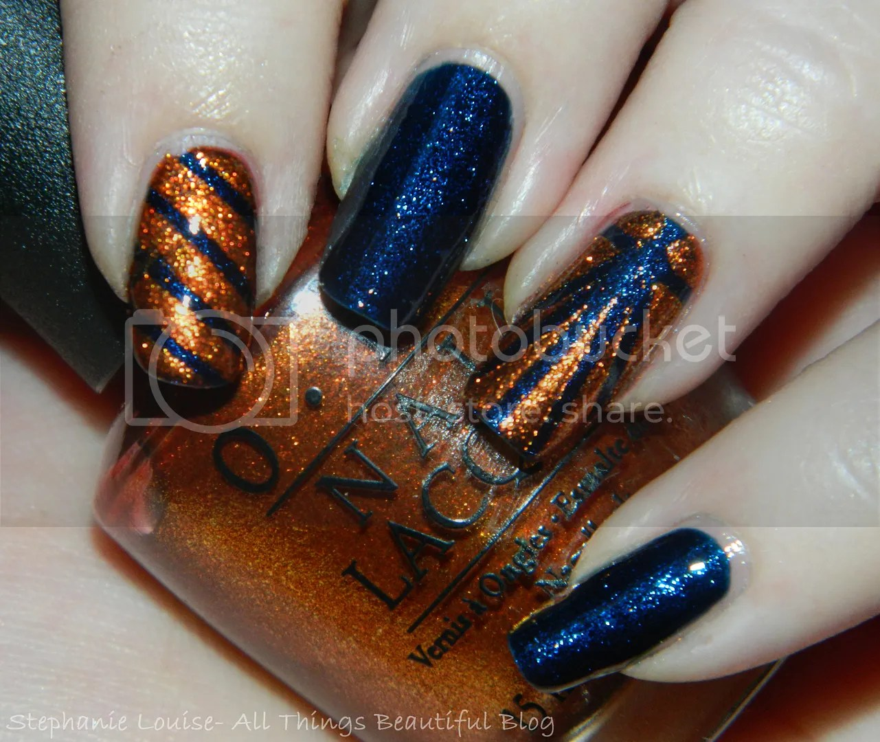 Easy Fall Nail Decoration: OPI Sprung + Color Club Williamsburg Easy Fall Nail Art