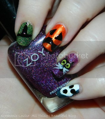 photo Halloween2013NailArtRandomCatWitchPumpkinGhostEasyZoyaOwlArt04_zps0ef3684e.jpg