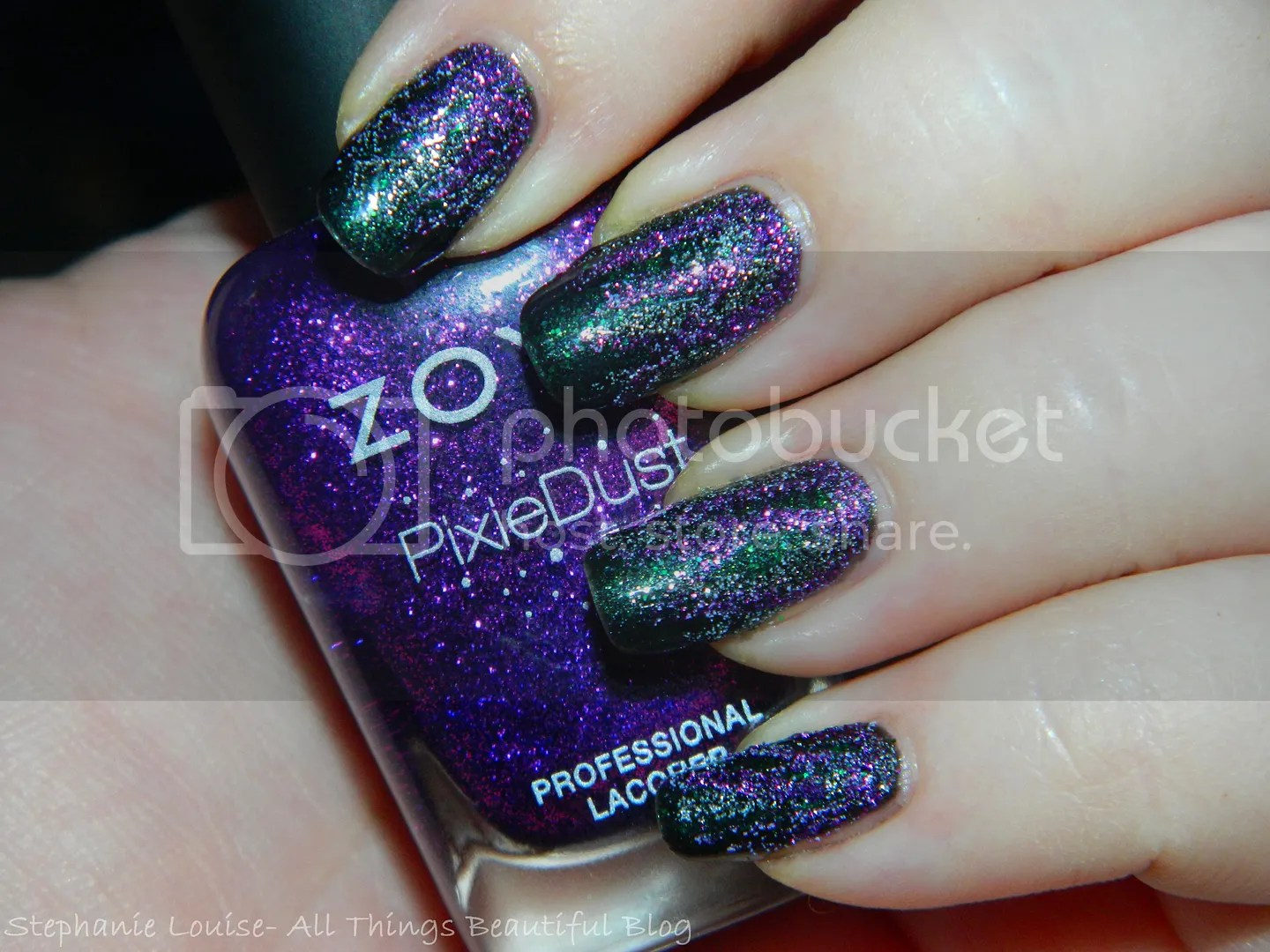 Spookfest: Easy Maleficent Inspired Magical Textured Nail Art