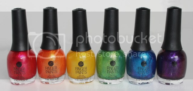 Finger Paints Nail Polish Poolside Paradise Summer 2014 Rainbow Nail Art with Ombre/Gradient designs from Stephanie Louise- All Things Beautiful