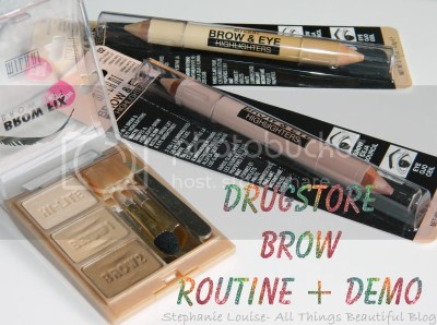 My Milani Drugstore Brow Routine for Lighter Colored Eyebrows + Routine