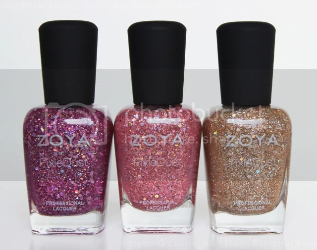 Zoya Summer 2014 Textured Holo Magical Pixie Dust Trio Swatches & Review