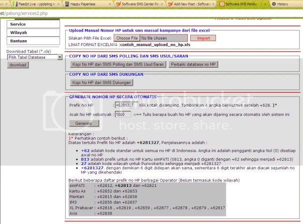 Database No Handphone untuk SMS Massal Kampanye