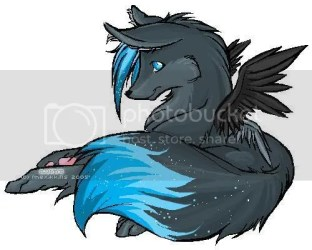 wolf cute anime wolves wolfs wings female winged visiting angel thanks she pup