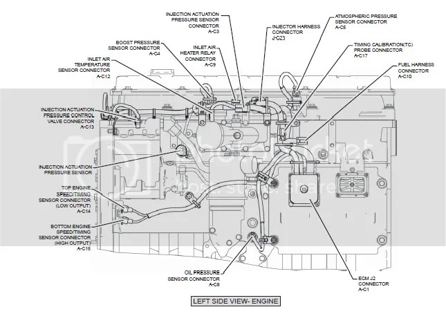 caterpillar c7 engine sensor diagram cat c ecm pin wiring