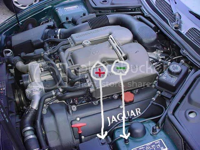 1996 Jaguar Xj6 Fuse Box Underhood Battery Terminals Jaguar Forums Jaguar