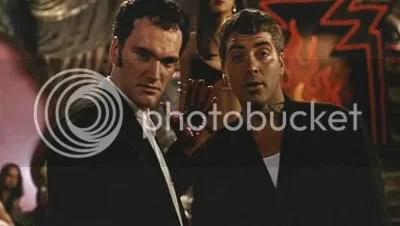 """Tarantino y Clooney en """"Abierto Hasta el Amanecer"""" (""""From Dusk Till Dawn"""", 1996)"""
