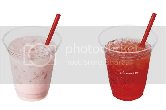 Productos sakura 2017: Tochiotome Iced Latte y Carbonated Strawberry Soda de Lotteria